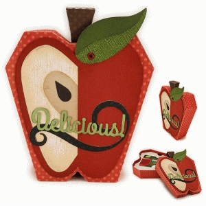 apple flat 3d box gift card
