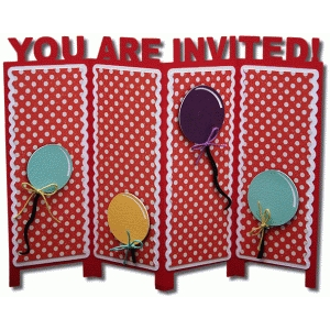 invited accordion stand card