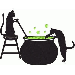 cats brewing potions
