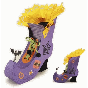 witch's high top shoe candy box décor
