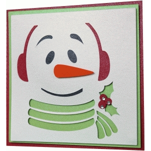 snowman layer card