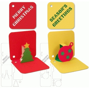 christmas pop-up gift tags