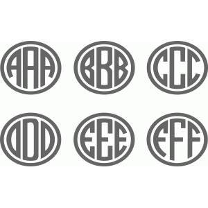 ellipse monogram a-f