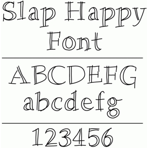 slap happy font