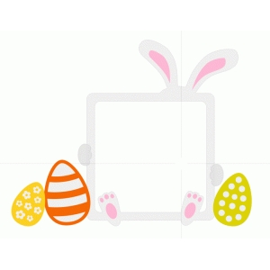 easter photo frame with bunny