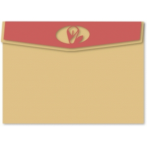 lily easter flap a7 envelope