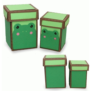 nesting frog boxes