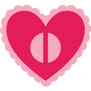 heart ribbon slider