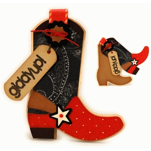 cowboy boot shaped a7 card