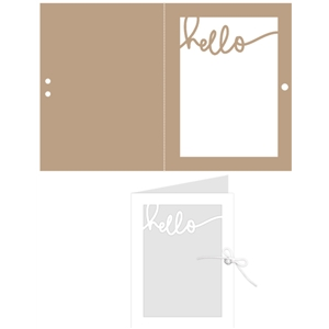 window ribbon card: hello