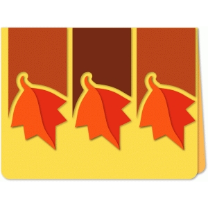 autumn leaves trio a6 card