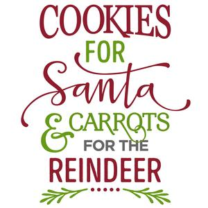 cookies for santa carrots for reindeer phrase
