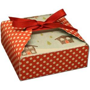 scallop tag cookie wrapper box with lid