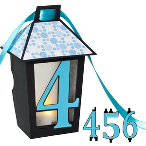 3d lantern banner with 4-5-6