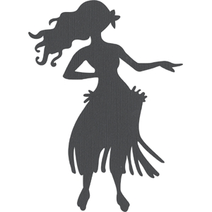Silhouette Design Store View Design 1408 Hula Dancer