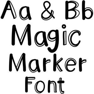 magic marker font