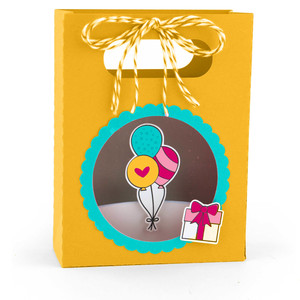 shadowbox gift card bag birthday balloons