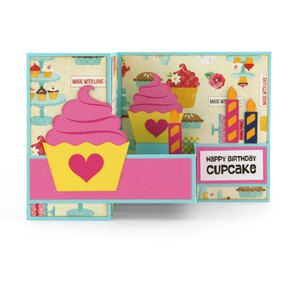 pop up box card birthday cupcake
