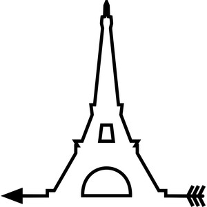 eiffel tower arrow