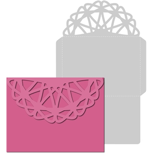 lace flap envelope