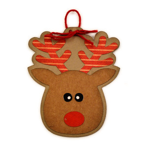 reindeer head ornament for tree