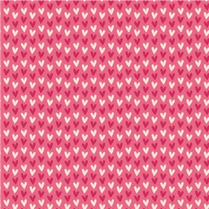 pink + ivory hearts pattern