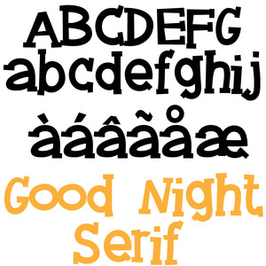 zp good night serif