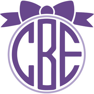 bow monogram frame