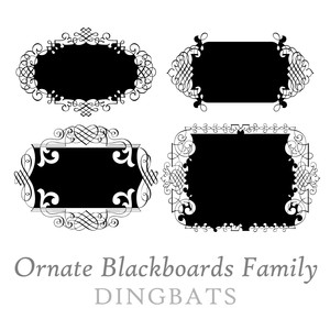 ornate blackboards dingbats