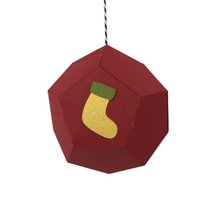 stocking hexagon ornament