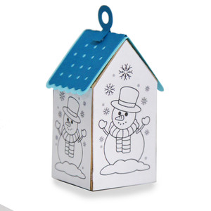 ml coloring house ornament - snowman