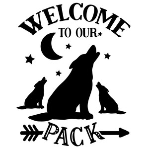 welcome to our pack - wolf design