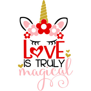 love is truly magical unicorn
