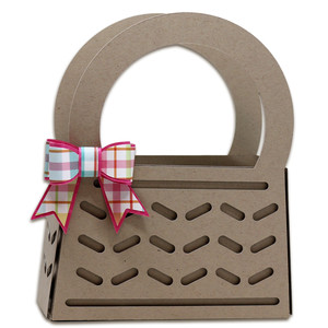 3d basket with bow