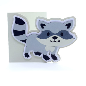 baby raccoon card