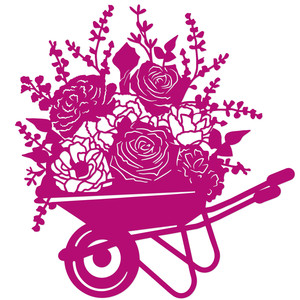 romantic floral wheelbarrow