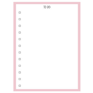 to do list printable