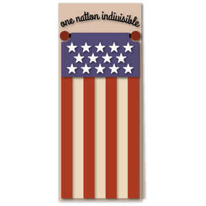 flag stripes indivisible tall card