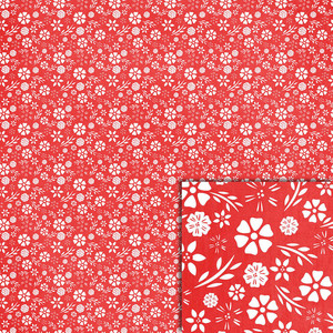 red floral background paper