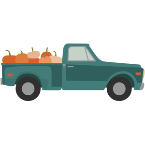 pumpkin patch farm truck