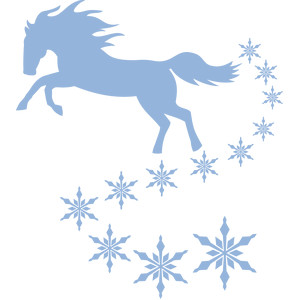 horse and snowflakes