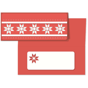 christmas nordic star long card