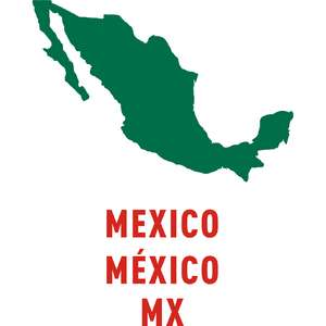 mexico country outline