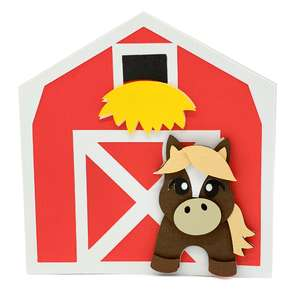 pony and barn card