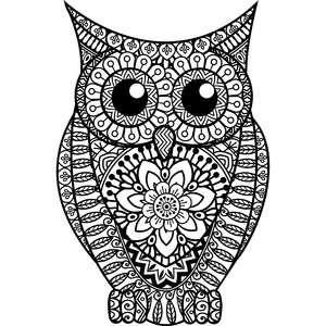 owl mandala zentangle