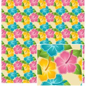 colorful hibiscus pattern