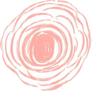 pink flower outline