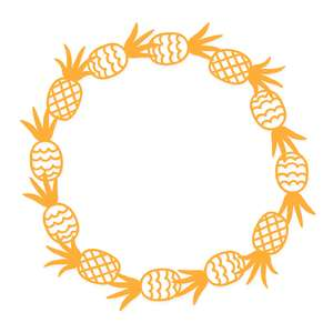pineapple monogram frame
