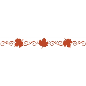 maple leaf curlicue border