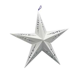 folk art-look cutouts 3d hanging star